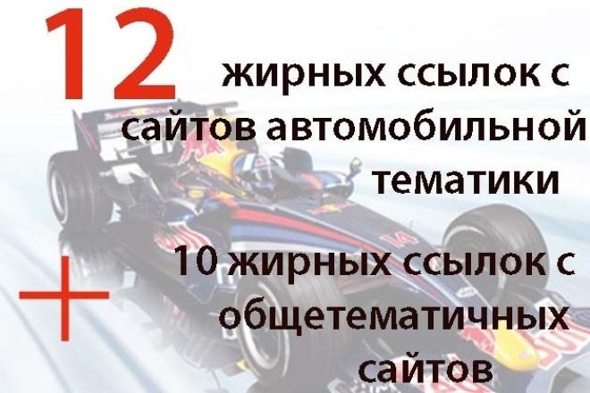 12 вечных ссылок с жирных трастовых сайтов автомобильной тематики 1 - kwork.ru