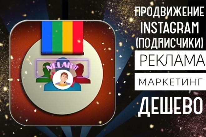 Сделаю продвижение Instagram +550 подписчиков 1 - kwork.ru