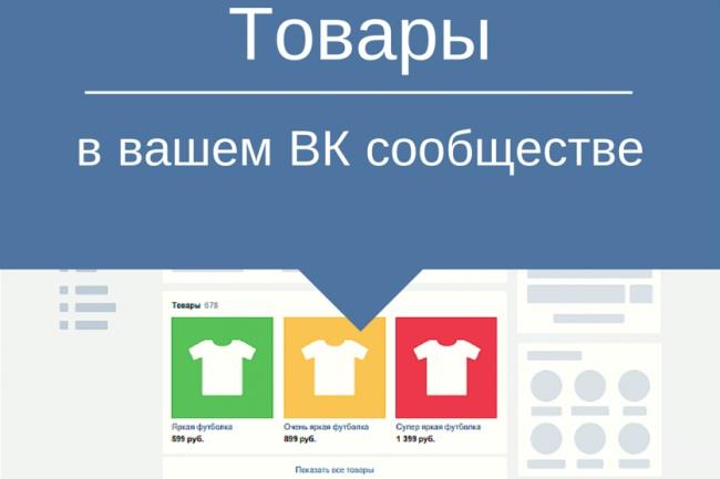 Перенесу в Вашу группу ВКонтакте товары из сайта или откуда скажите 1 - kwork.ru