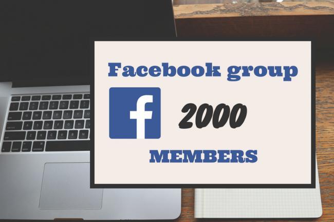 Создам группу в Facebook на 2000 активных англоязычных участниковАдминистраторы и модераторы<br>Кворк будет полезен тем, кто продает свои товары или услуги при помощи групп, а ещё для тех кто хочет быстро протестировать отклик на свой товар у международной аудитории. Я создам и настрою группу для вашего бренда или услуги, оформлю её, добавлю людей и сделаю вас администратором группы. После оплаты - покину группу и оставлю её в вашем распоряжении. Оплата только после исполнения - вы ничем не рискуете. Добавляю только своих друзей на facebook. Никаких бирж ботов и накрутчиков. У вас уже готовая группа которую вы хотите увеличить? Без проблем - я добавлю нужное количество людей. Вам нужно только подтвердить несколько участников и ждать результата. Срок исполнения 1-7 дней в зависимости от количества участников. Работаю максимально безопасно - соблюдаю скорость добавления участников группы что исключает возможность блокировок. Всегда добавляю +5% от общего заказа на случай если некоторые участники начнут выходить из группы. Внимание: для того чтобы участники группы были активными - вам придётся делать интересный контент и вовлекать людей в активности в группе. Без работы с людьми активности не будет. Этот кворк - ваша возможность показать свой товар большому количеству людей.<br>