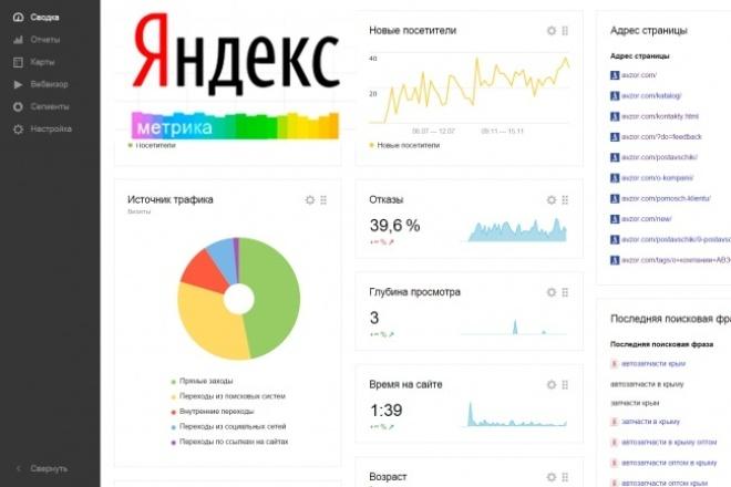 подключу Яндекс.Метрику и научу пользоваться ею 1 - kwork.ru