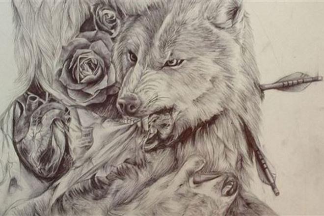 сделаю карандашный рисунок с фото 1 - kwork.ru