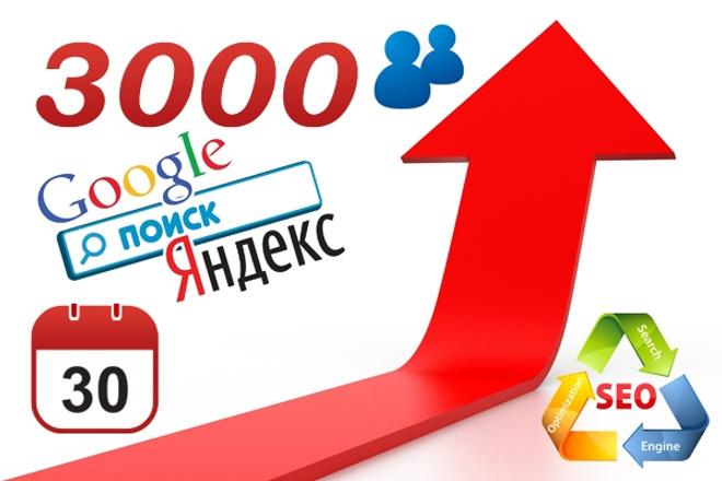 Качественный поисковый трафик от 80 до 100 в сутки целый месяц 1 - kwork.ru