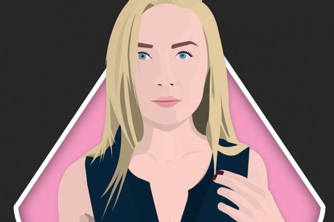 Сделаю векторный портрет или арт по фото в своем стиле 1 - kwork.ru