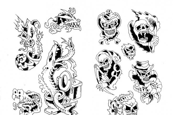 Могу нарисовать эскиз татуировки 1 - kwork.ru