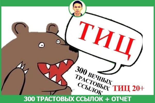 размещу 300 трастовых ссылок на сайтах с ТИЦ от 20 + отчет 1 - kwork.ru