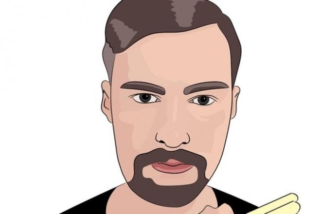 Создам векторный портрет по фотографииИллюстрации и рисунки<br>Нарисую векторный портрет по вашим фото. От вас требуется прислать две фотографии. Если есть пожелания как нарисовать, сообщайте сразу. Редактирую бесплатно, до тех пор, пока вам понравится результат. =)<br>
