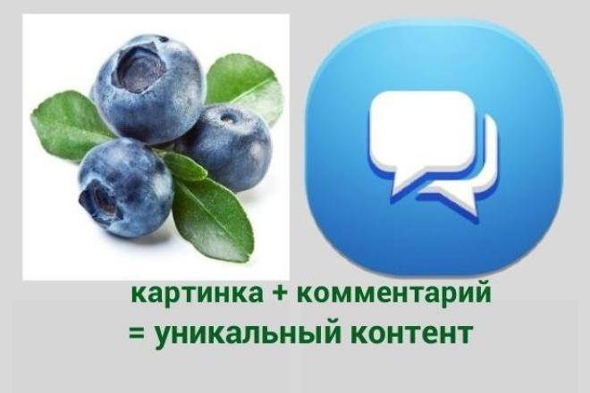 100% уникальность комментариев + создание уникальных картинок 1 - kwork.ru