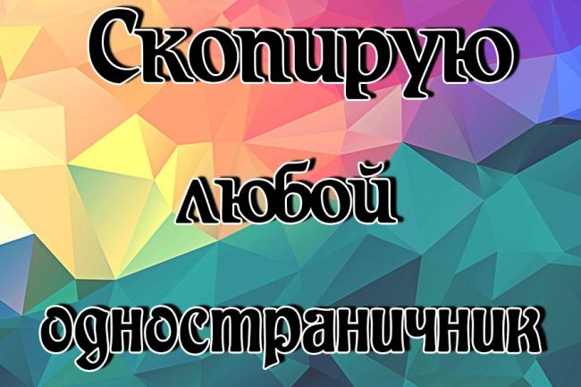 Скопирую любой лендинг 1 - kwork.ru
