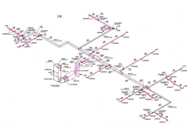 Черчу исполнительные схемы раздела ОВиК в AutoCAD и MagiCADИнжиниринг<br>Черчу исполнительные схемы раздела ОВиК, в т.ч. тепловые пункты и хладоцентры. Работаю в AutoCAD и MagiCAD.<br>