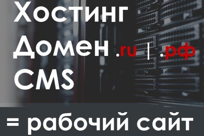 Зарегистрирую Хостинг, Домен, установлю любую CMS 1 - kwork.ru