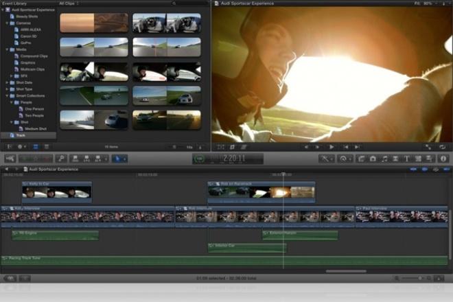 Смонтирую Ваше видеоМонтаж и обработка видео<br>Здравствуйте. Я смонтирую ваше видео. Знаю все тонкости монтажа в таких программах как sony Vegas pro, Adobe Premier Pro, Adobe After effects.<br>