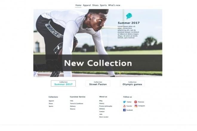 Сделаю дизайн главной страницы Вашего сайта 1 - kwork.ru