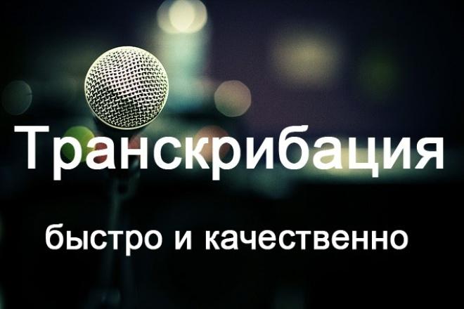 Переведу аудио- и видеофайлы в текст 1 - kwork.ru