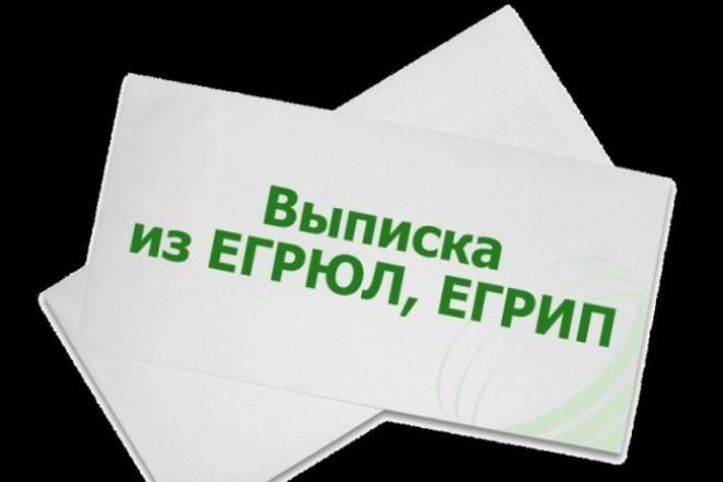 Предоставлю оперативно актуальную выписку из егрюл/ егрип 1 - kwork.ru