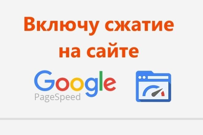Включу сжатие на сайте (есть пример - мой сайт 100/100) 1 - kwork.ru