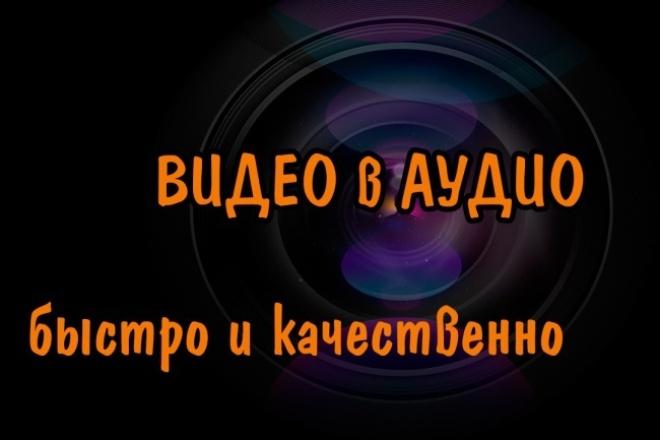 Отделение аудиодорожки из 12 роликов YouTube 1 - kwork.ru