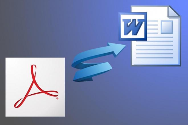 Сконвертирую pdf в doc и наоборотРедактирование и корректура<br>Распознаю, отредактирую неточности распознавания и переведу pdf в doc, также могу наоборот doc в pdf, также можно поработать с djv / djvu хорошего качества.<br>