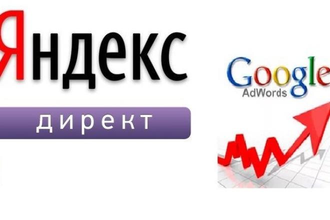 Настройка контекстной рекламыКонтекстная реклама<br>Рекламная кампания для Яндекс Директ или Гугл Адвордс . В услугу входит: 1. Изучение сферы деятельности. 2. Сбор ключевых слов: вручную. 3. Согласование ключевых слов с заказчиком - вы выбираете из общего списка слов, которые вас наиболее интересуют. 4. Продающие, призывающие к действию заголовки. 5. Добавление быстрых ссылок, ведущих на конкретную группу товара/услуги. 6. Настройку гео- и временного таргетинга. С какими тематиками не работаю: интим, секс-игрушки, МММ, форекс, лекарства, БАД, казино, любая запрещенная или серая тематика.<br>