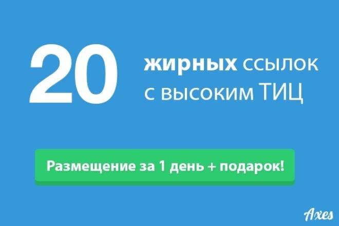 20 жирных ссылок на трастовых сайтах с высоким ТИЦ 1 - kwork.ru