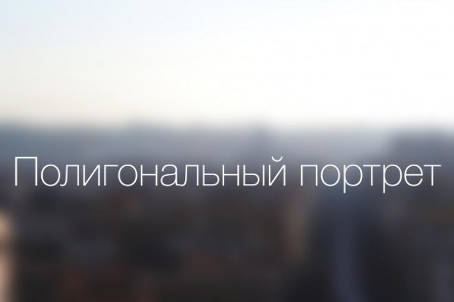 Сделаю полигональный портрет из вашего фото 1 - kwork.ru
