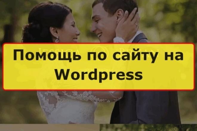 Помощь по сайтам  на движке Wordpress 1 - kwork.ru