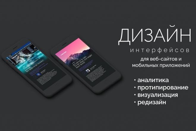 Интерфейсы для сайтов и мобильных приложений 1 - kwork.ru
