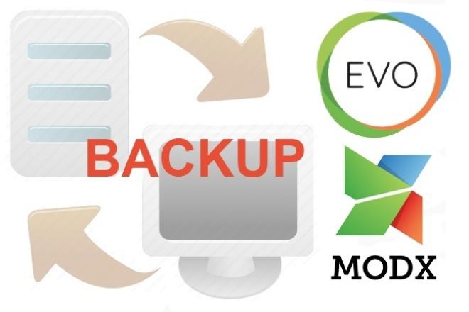 Backup сайта, перенос сайтаДоработка сайтов<br>Сделаю бэкап файлов и базы данных вашего сайта или перенесу Ваш сайт на другой хостинг. MODx EVO, Evolution CMS.<br>
