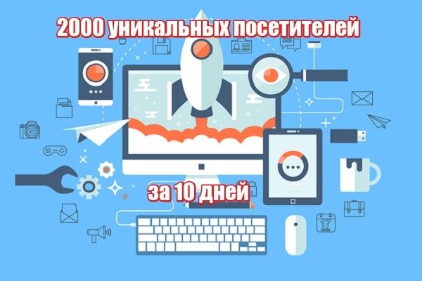 2000 уникальных посетителей на Ваш сайт за 10 дней 1 - kwork.ru