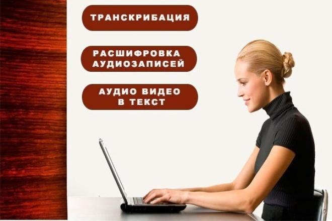 Делаю транскрибацию, перепечатка из аудио или видео в текстНабор текста<br>Быстро и грамотно перепечатаю текст с аудио или видео носителей. Работаю быстро и грамотно. Обеспечиваю Вам качественное и быстрое выполнение задания с учетом всех Ваших заявленных требований. Также набор текста с фото, картинки - до 5 страниц.<br>