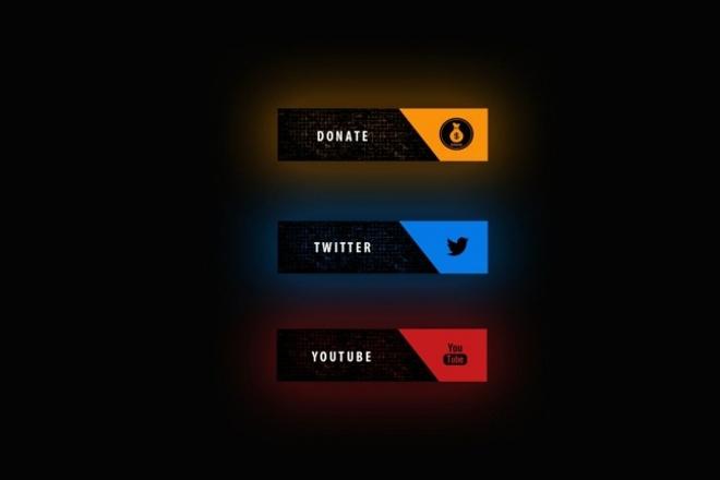 Сделаю для вас оформление канала Twitch 1 - kwork.ru