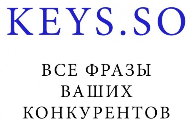 выгружу запросы конкурентов по keys.so 1 - kwork.ru