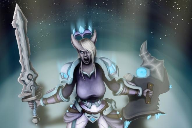 Персонаж в стиле или из игры World of Warcraft 1 - kwork.ru