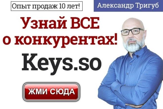 Ключи конкурентов для SEO или рекламы от Keys.so 1 - kwork.ru