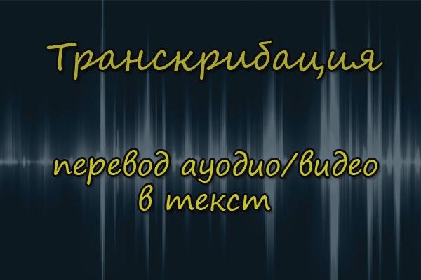 Переведу аудио/видео в текст 1 - kwork.ru