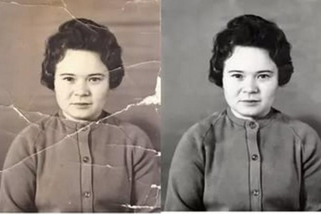 Сделаю реставрацию старых фотографийОбработка изображений<br>Сделаю реставрацию Ваших старых фотографий. Удалю сколы, царапины. Сделаю все возможное, чтобы фотография стала новой.<br>
