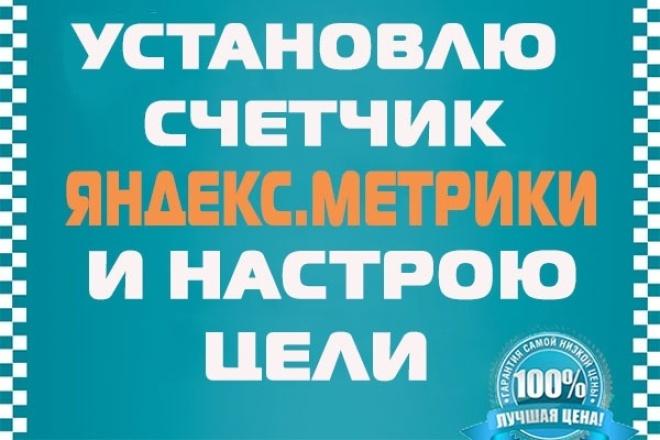 Установлю счетчик Яндекс.Метрики  и настрою цели 1 - kwork.ru