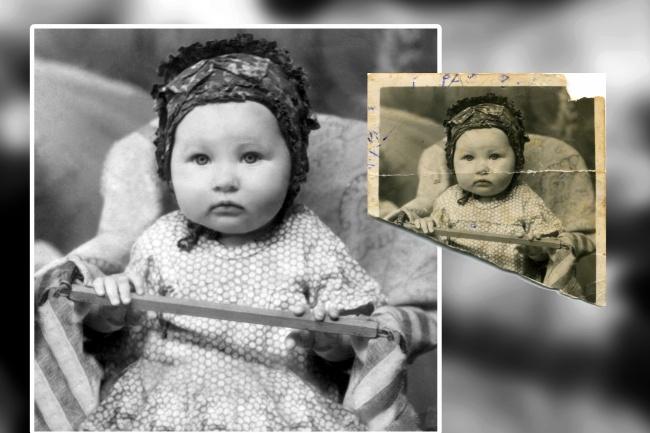 Реставрация фотоОбработка изображений<br>Реставрация старых фотографии. Ретушь, кадрирование, пыль, царапины, заломы, восстановление порванных и утраченных фрагментов фотографий. Работа с цифровой фотографией 14 лет.<br>