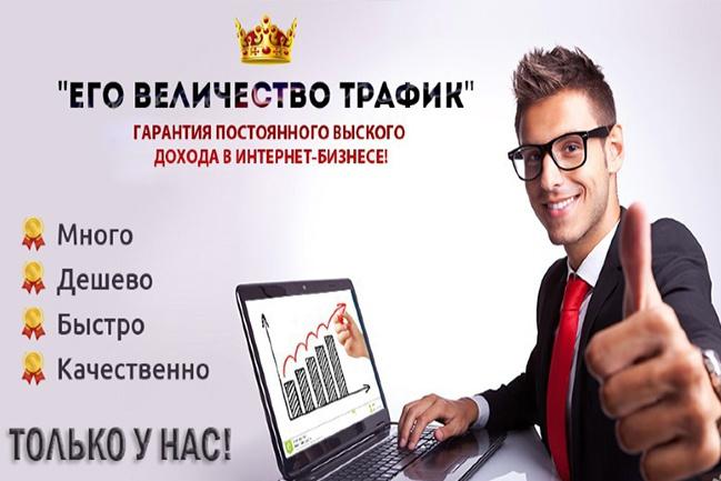 Всего 500 рублей и 20.000 ЖИВЫХ уникальных посетителей за 10 дней 1 - kwork.ru