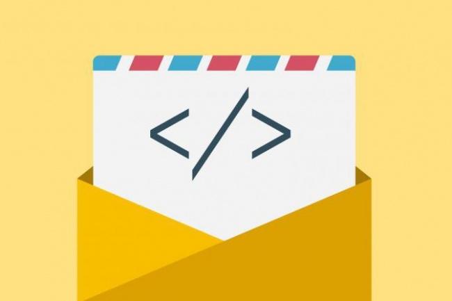 Верстка email-рассылокВеб-дизайн<br>Сверстаю в html письмо по вашему psd-шаблону. Корректное отображение во всех современных почтовых клиентах, на мобильных и компьютерах.<br>