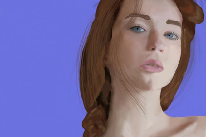Нарисую вас в фотошопеИллюстрации и рисунки<br>Нарисую рисунок в фотошопе по вашей фотографии. Фото должно быть портретным (т.е. по плечи). По просьбе могу нарисовать в других стилях.<br>