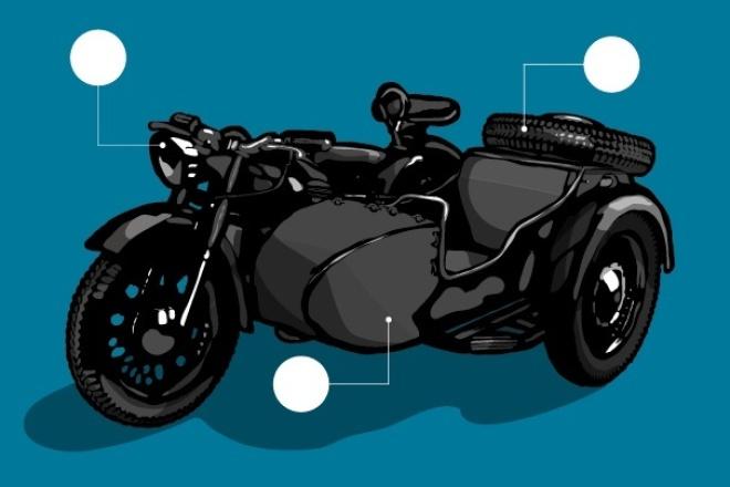 Отрисую в вектореОтрисовка в векторе<br>Отрисую в векторе (Adobe Illustrator) растровое изображение: картинку, рисунок, фото, скан. Обработка вручную. Учту ваши пожелания. Работа будет передана на ваш выбор цветной или черно-белой: в формате прозрачного PNG, плюс векторный исходник - в формате AI или EPS. Векторное изображение идеально масштабируется. Отлично подходит для использования в социальных сетях, web-дизайне, презентациях, рекламной продукции (открытки, плакаты, буклеты, визитки, листовки и пр.). Важно : В этот Кворк входит отрисовка простого изображения с минимальным количеством деталей (от 10 до 50; например, логотип, эмблема, торговый знак, лицо человека, животное), дополнительные элементы, линии, символы и т.п. необходимо оформить как опции.<br>
