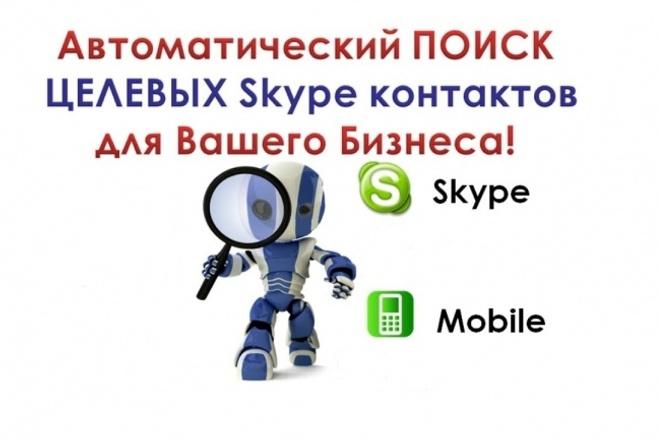 Соберу Skype информацию+ номера тел. из групп открытого источника 1 - kwork.ru