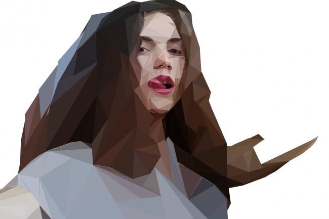 Нарисую ваш портрет в полигональном стиле 1 - kwork.ru