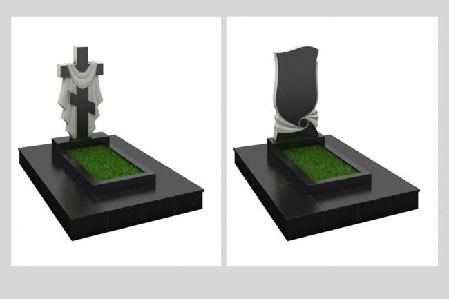 Создам иллюстрации резных памятников, 2 комплекта 1 - kwork.ru