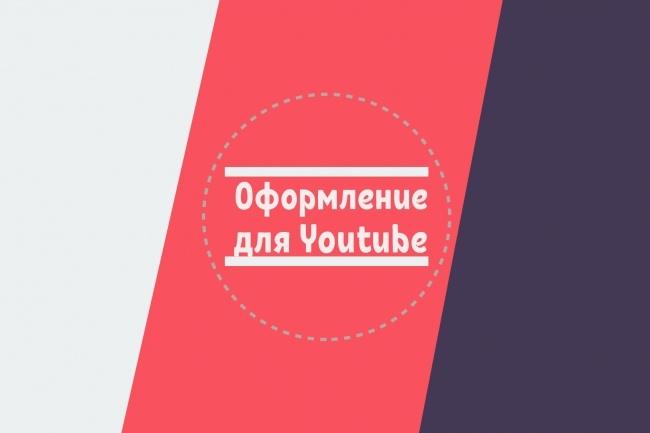 Сделаю оформление вашего youtube канала + шаблон превью 1 - kwork.ru