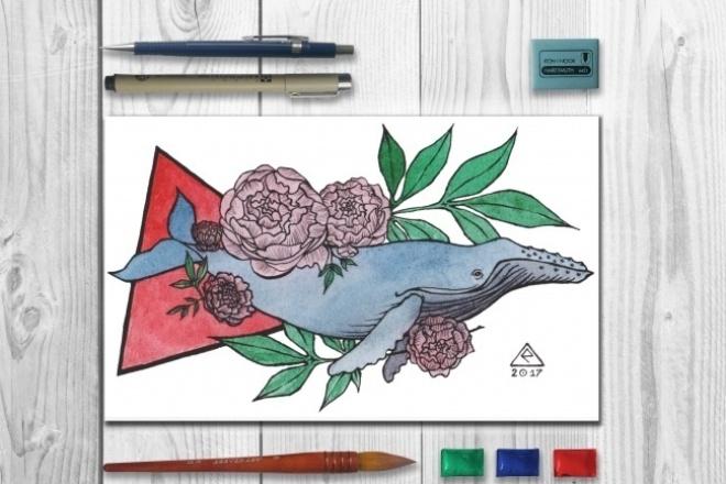 Нарисую иллюстрацию или эскиз для тату 1 - kwork.ru