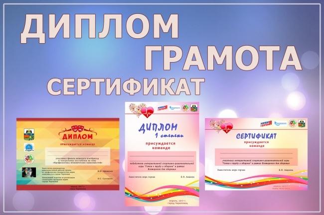 Сделаю дизайн грамоты, диплома или сертификата 1 - kwork.ru