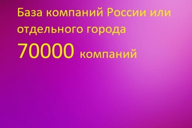 База компаний России или любого региона 1 - kwork.ru