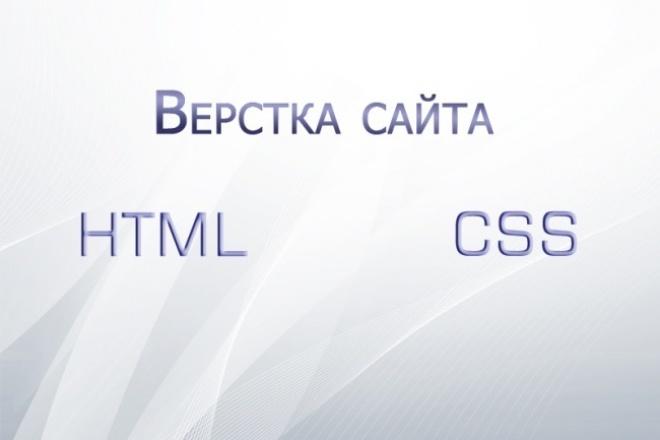 Сверстаю макет из PSD 1 - kwork.ru